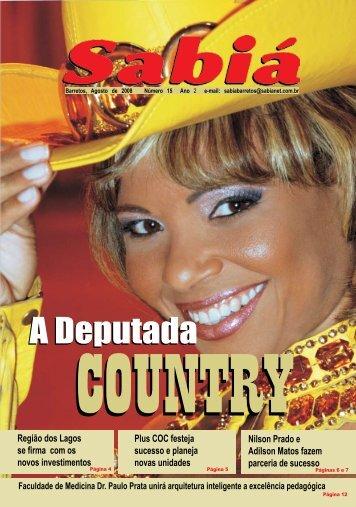 Sabiá - agosto - 2008 - nº 14 - edição especial - Outorga.com.br