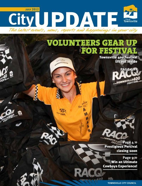 volunteers gear up for festival - Townsville City Council