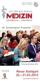 Kongressprogramm als PDF-Download - Messe Stuttgart