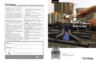 NEW US Range U Series Restaurant Range Brochure - Garland ...