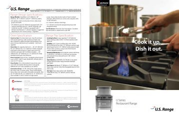 NEW US Range U Series Restaurant Range Brochure - Garland ...