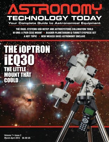 Can't see the page, click here - Astronomy Technology Today
