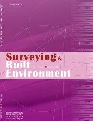 Volume 18 Issue No.2 December - Hong Kong Institute of Surveyors
