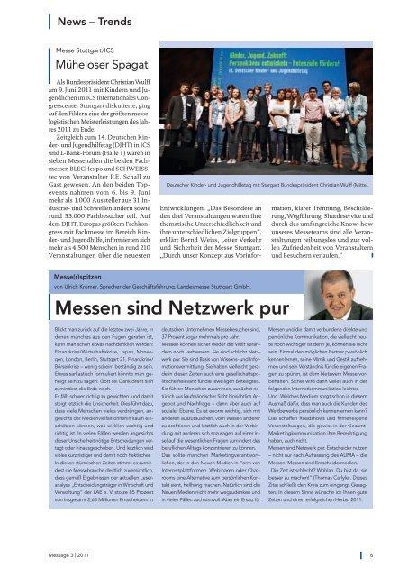 Message Ausgabe 3/2011 - Messe Stuttgart