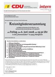 Aus den Vereinigungen - CDU Main-Tauber