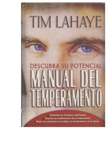 Manual de Temperamentos - Ptr. Arturo Quintero