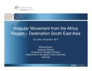 Irregular Movement from the Africa Region ... - Bali Process
