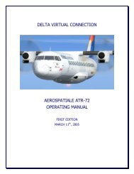 Aerospatiale ATR-72 Operating Manual - Delta Virtual Airlines