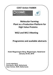 COST Action FA0804 Molecular Farming: Plant as a Production ...