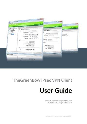 TheGreenBow IPsec VPN Client - User Guide