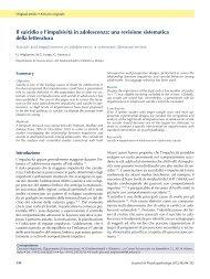 Il suicidio e l'impulsività in adolescenza - Journal of Psychopathology