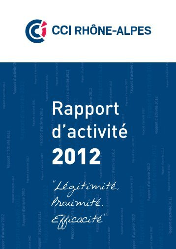 Rapport d'Activité 2012 - Les Chambres de Commerce et d'Industrie ...