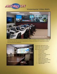 Visionmaster Video Walls - Americon