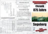 875 Jahre Segeberg