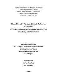 Minimal-invasive Transplantationstechniken am Kniegelenk unter ...