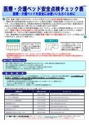 医療・介護ベッド安全点検チェック表
