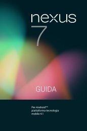 Per AndroidTM piattaforma tecnologia mobile 4.1 - Realizzazione ...