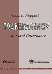 Tools to Support Transparency in - UN-HABITAT - United Nations ...