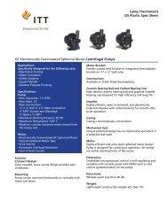 Laing Thermotech D5 Plastic Spec Sheet DC ... - Pump Express