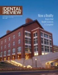 DENTAL REVIEW - UNC School of Dentistry - The University of ...