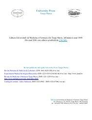 University Press - Universitatea de Medicina si Farmacie