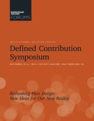 Institutional Investor Forums – Defined Contribution Symposium ...