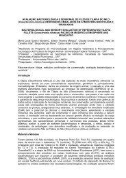 AVALIAÇÃO BACTERIOLÓGICA E SENSORIAL DE ... - SOVERGS