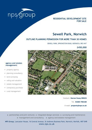 Sewell Park, Norwich - NPS
