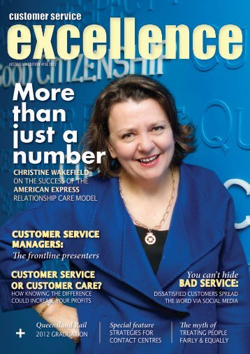 More than just a number - Customer Service Institute of Australia