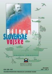 Letnik 9/4, december 2007 - Slovenska vojska