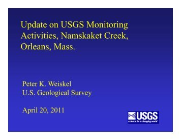 Update on USGS Monitoring Activities ... - Town Of Orleans