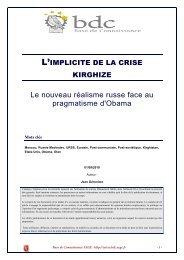 L'implicite de la crise kirghize - Le nouveau réalisme russe face au ...