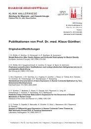 Publikationen von Prof. Dr. med. Klaus Günther - Klinik Hallerwiese