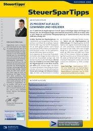 AAV Newsletter 11/08 - Steuertipps.de