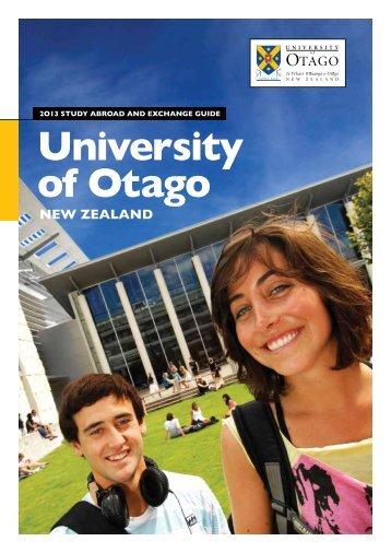University of Otago New Zealand