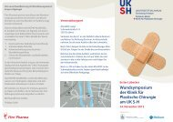 Wundsymposium der Klinik für Plastische Chirurgie am UK S-H