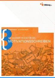 MOTIVATIONSSCHREIBEN - Bildung.de