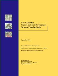 New Carrollton Transit-Oriented Development Strategy Planning Study