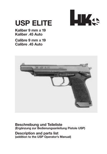 USP ELITE - Waffen Braun