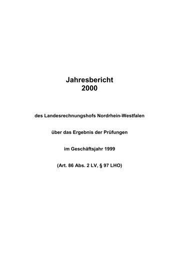 2000 - Landesrechnungshof des Landes Nordrhein-Westfalen (LRH ...