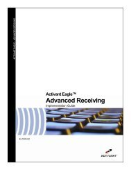 Advanced Receiving User's Guide