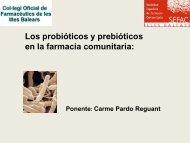 Los probióticos y prebióticos en la farmacia comunitaria - SEFaC