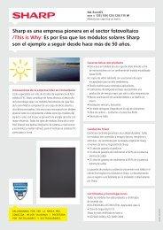 Ficha técnica panel solar SHARP NA-E120-125 ... - SunFields Europe