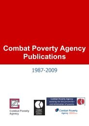 Combat Poverty Agency Publications 1987-June 2009