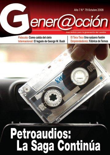 Año 7 N° 79 Octubre 2008 Palacala:Como caída ... - Generaccion.com