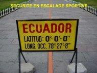 Escalade en Equateur - Secours-montagne.fr