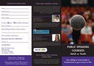 PUBLIC SPEAKING COURSES! - Pro Speak