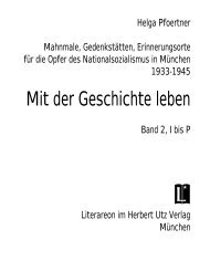 Mit der Geschichte leben - NS-Dokumentationszentrum München