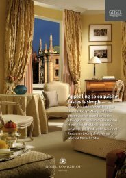 Appealing to exquisite tastes is simple - Hotel Königshof