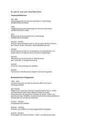 Dr. med. Dr. med. dent. Hans-Peter Ulrich Zusatzqualifikationen Seit ...
